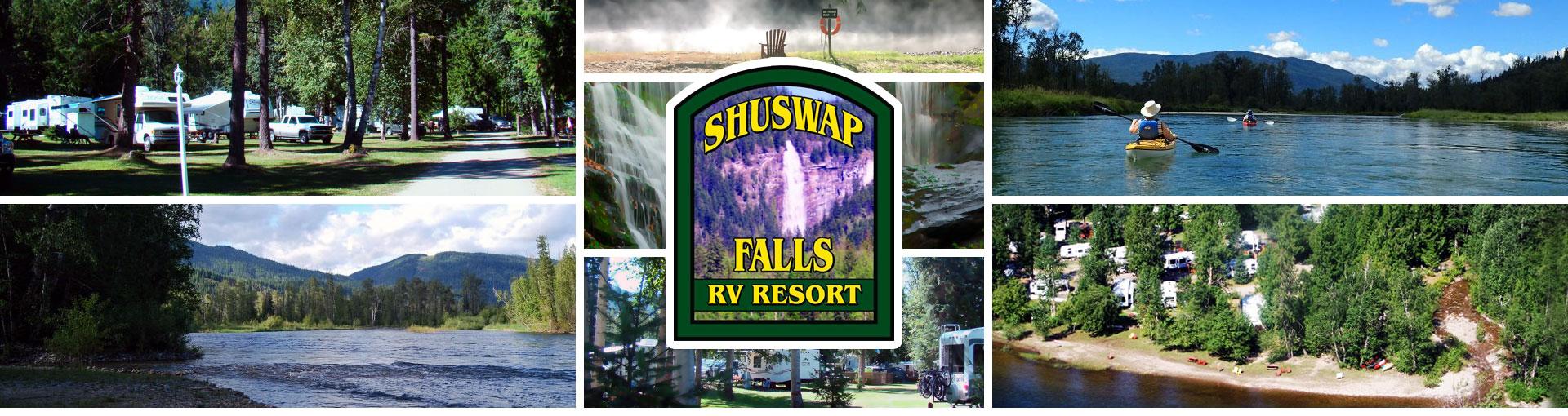 Shuswap Falls R.V. Resort Collage