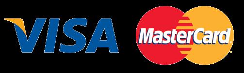 Logos: Visa and Mastercard